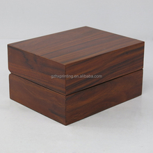 Luxury Wood Grain Paper Coated Wooden Watch Storage Box