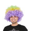 high quality short multicolored synthetic afro wigs fashion crazy wigs