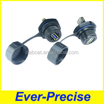 Supply IP68 USB waterproof connector with cap to USA market