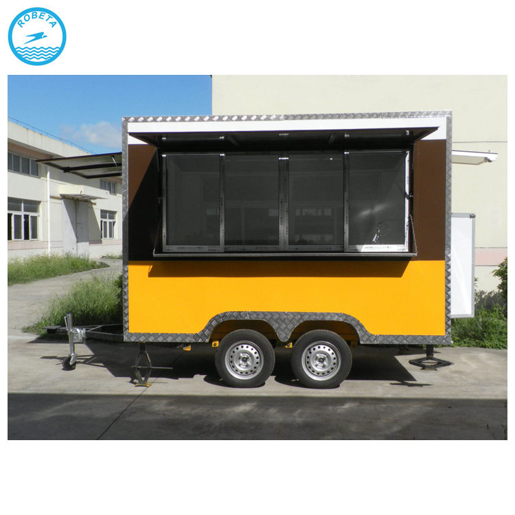 Hot Selling Square Shape churros food trailer mobile food trailer carros de comida rapida en venta