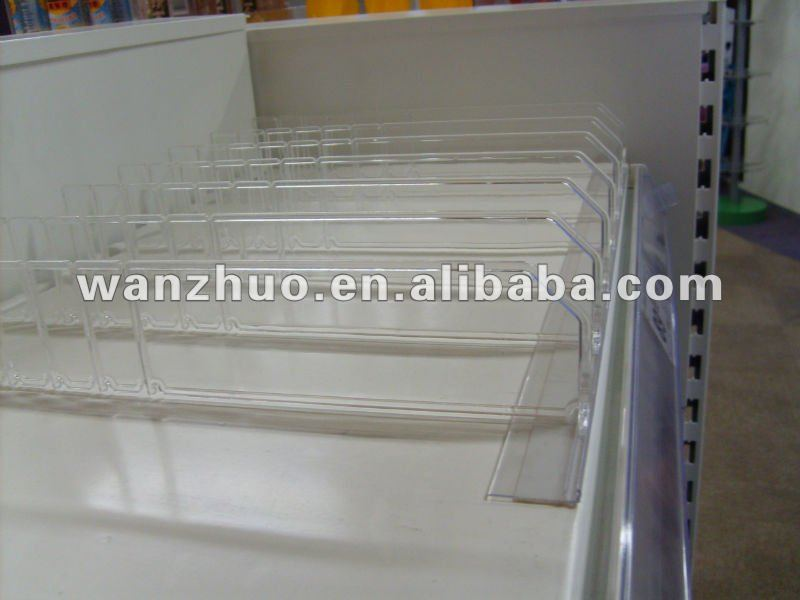 Clear Plastic Shelf Divider for Supermarket and Stores