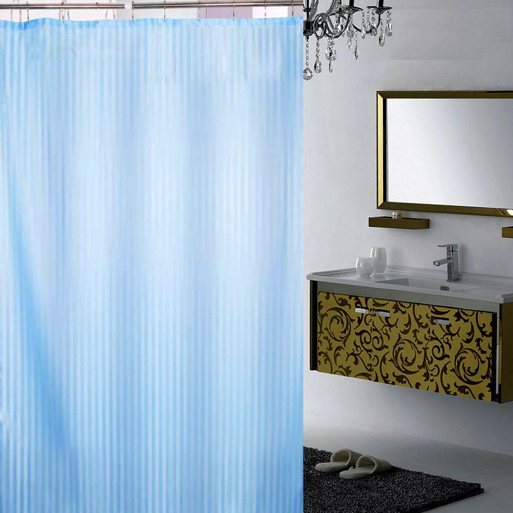 New fashion waterproof 100% polyester fabric checker board jacquard shower curtain
