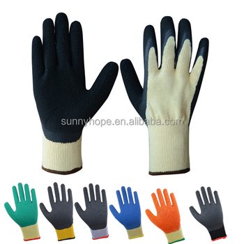 10 gauge Durable cheap price latex coated gloves