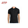 Three White Button Black Plain Polo