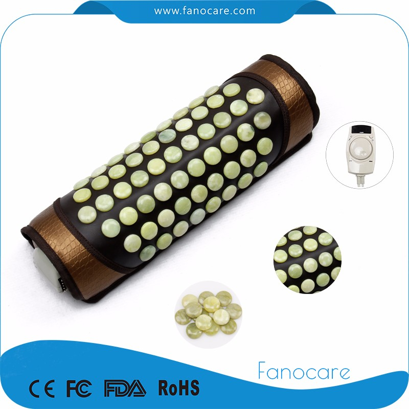 Fanocare thermal neck cooling and massager jade stone massage pillow