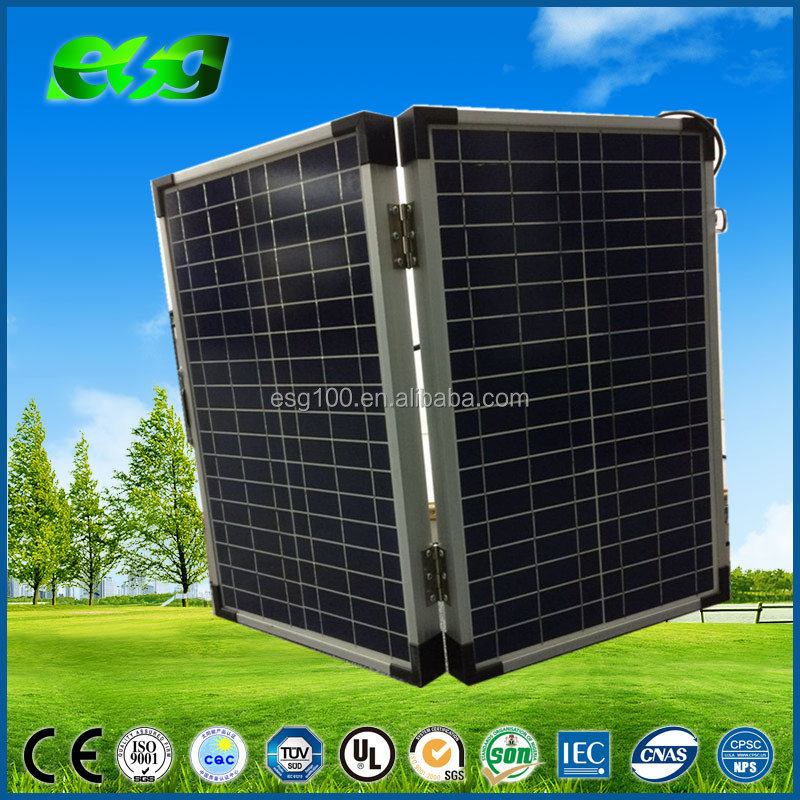folding portable solar panels 20W 100w 120W for home use,high efficiency solar module price