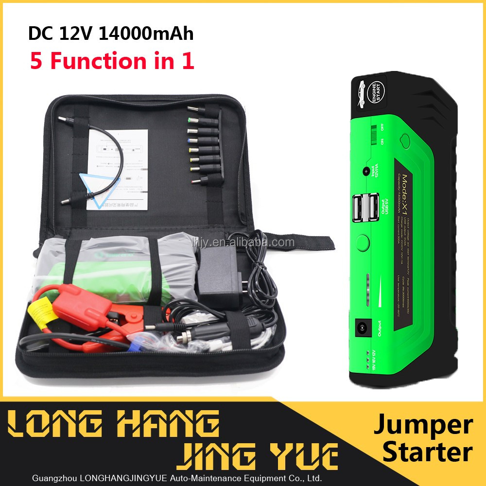 seat belt cutter and glass breaker auto emergency kit / dc12v emergency kits for automobiles / 14000mAh jump start