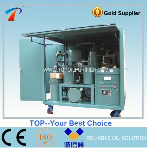 Double Stage Vacuum Capacitor Oil Regeneration System,Waste Insulation Oil Recovery Machine,Age Oil Reclaimer