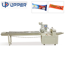 Multi-Function horizontal flow candy/ pastries /chocolate bar tray cookie wrapping machine for food