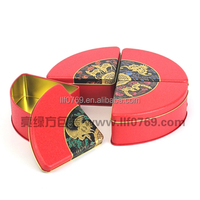 triangle pizza metal tin box packaging