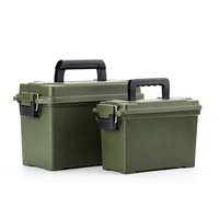 Large plastic plastic waterproof ammo box 350*180*220mm 50 ammo case durable ammo storage box
