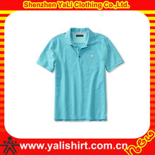 2015 fashion comfort short sleeve cotton men custom polo shirts with embroidery logo apparels distributors