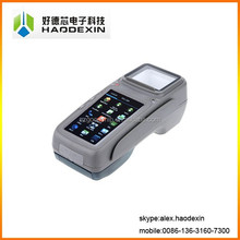 "Android 4.3"" touch mobile pos with integrated receipt thermal printer QR barcode scanner MSR NFC 3G wifi GSM GC028+"