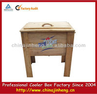 wooden wine cooler,insulated wooden cooler box