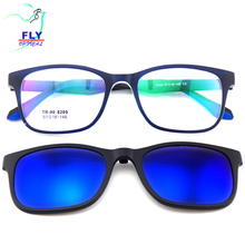 Wholesales TR90 Optical Frames Unisex Polarized Lens Magnetic Clip on Sunglasses
