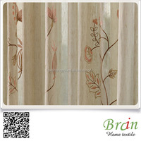 Hot Sell Poly,Linen Leave Jacquard curtain