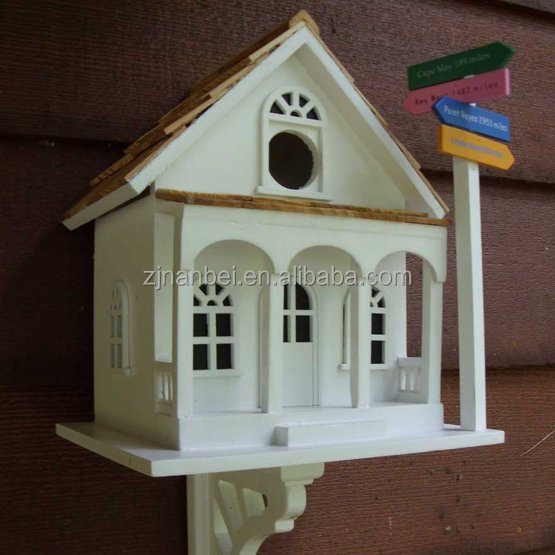 Custom cool wooden bird house outdoor painted colour wood for Cool house products
