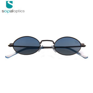 Delivery fast high quality fashion vintage small oval sunglasses