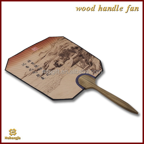 New coming top sell wood crafts spanish wooden hand fan