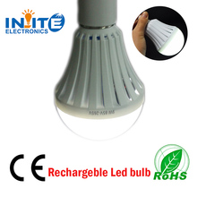 Alibaba Ningbo E27 220v led battery powered emergency rechargeble light bulb