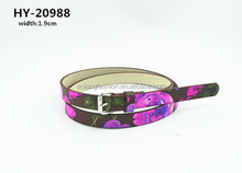ladies dress fake leather printing lady casual belt hot sales