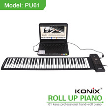 hand roll piano 61keys used educational kids computer soft piano musical high quality soft keyboard midi controller