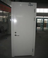 steel fire door with panic push bar