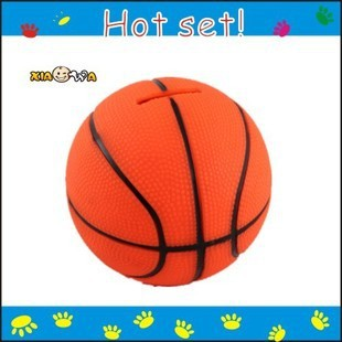 Factory Direct Custom Coin Bank Basketball Shaped Money Saving Box Piggy Bank