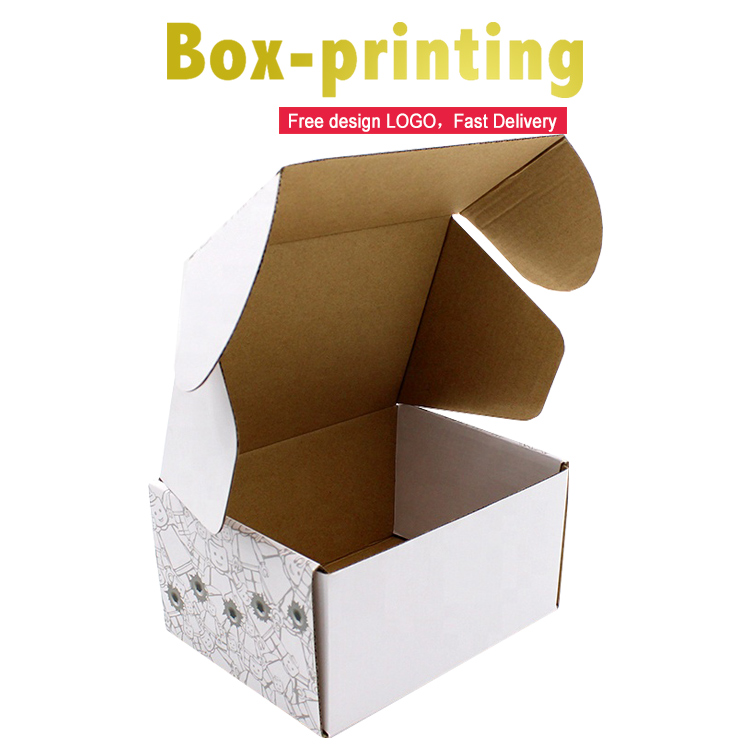 OEM custom luxury Shoe gift shipping box kraft white corrugated paper packaging box