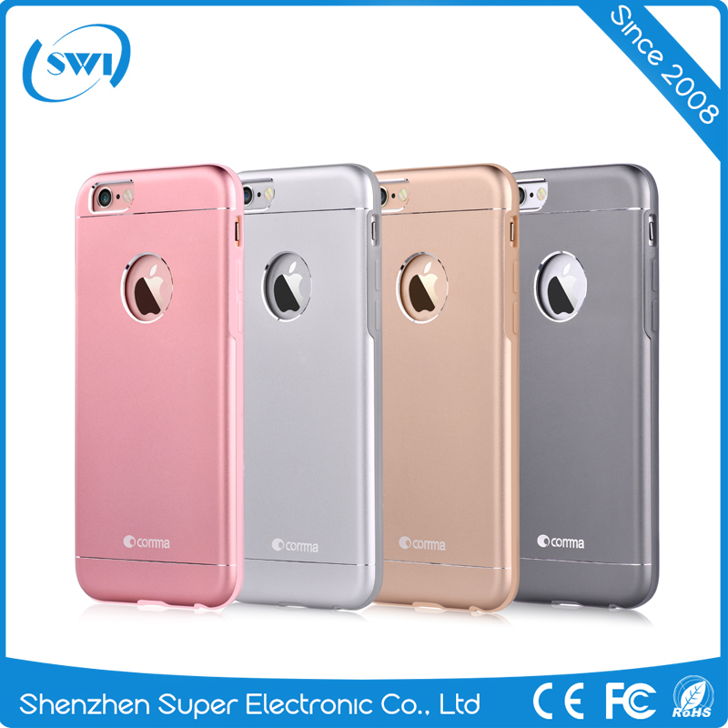 China Suppliers Luxury Aluminum Metal Bumper Frame + PC TPU Mobile Phone Case For iPhone 6 6s Plus