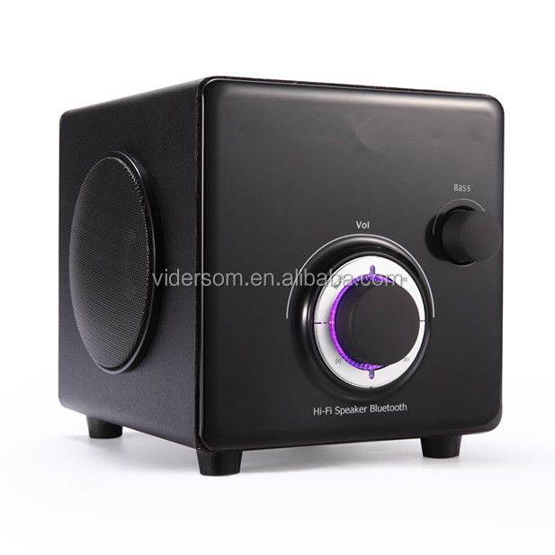 2.1 High Quality Wooden Cubic Bluetooth Speaker