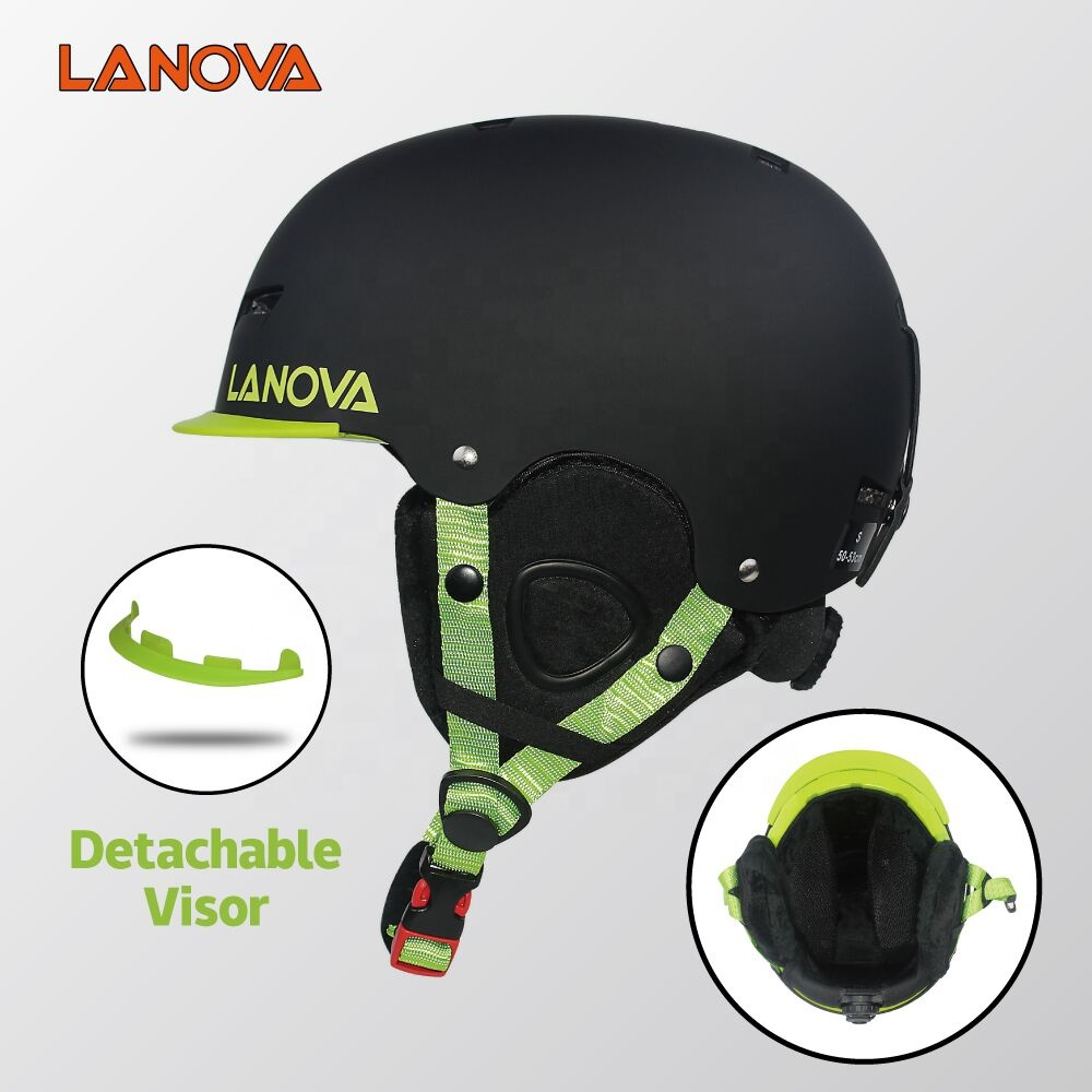 LANOVA ski helmet with visor children adult size EN1077 standard