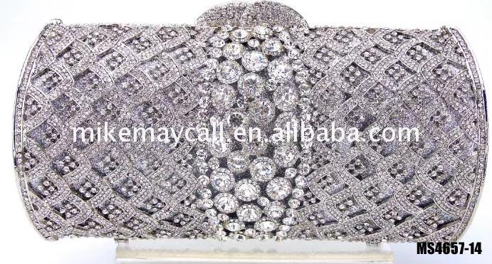 Crystal Bags Wedding Clutch Luxury Diamante crystal handmade lady fashionbag austrian evening bags for girls