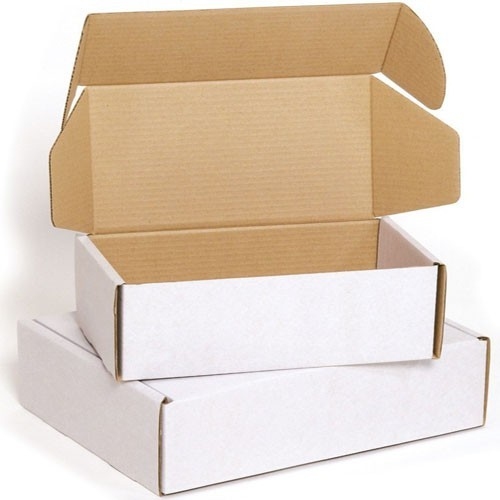 Custom printed whilte brown corrugated cardboard color mailer shipping boxes