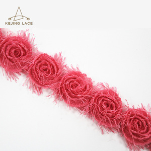 Elegant Embroidery Lace Trim Flower Decorative Trimming