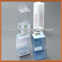 clear folding plastic box pvc pet pp packaging box for cosmetics