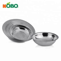NOBO quality kitchenware set multifunction 430 stainless steel serving bowl