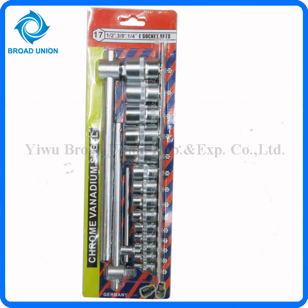 17PC High Quality Hand Socket Wrench Tool Set Cheap Wrench Set
