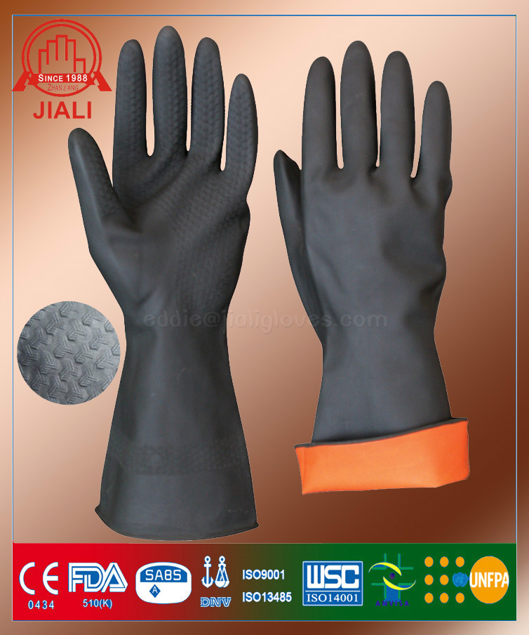 rubber safety work gloves /labor protection gloves with high quality China wholesale supplier