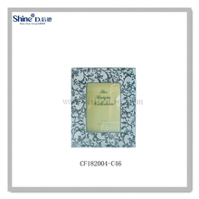 chinese blue and white porcelain imitation picture photo frame standing for interior decoration