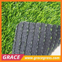 Natural thick green artificial grass carpet for courtyards
