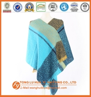 Promotion woven 100% acrylic new styles fashion scarf shawl stole in 2014