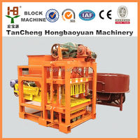 2015 factory competitive price QTJ4-28 cement automatic colorful concrete soil paver fly ash brick block making machine price