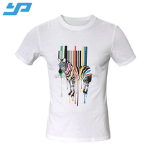 wholesale cheap men digital sublimation printing custom blank 100% combed cotton t shirt with pattern