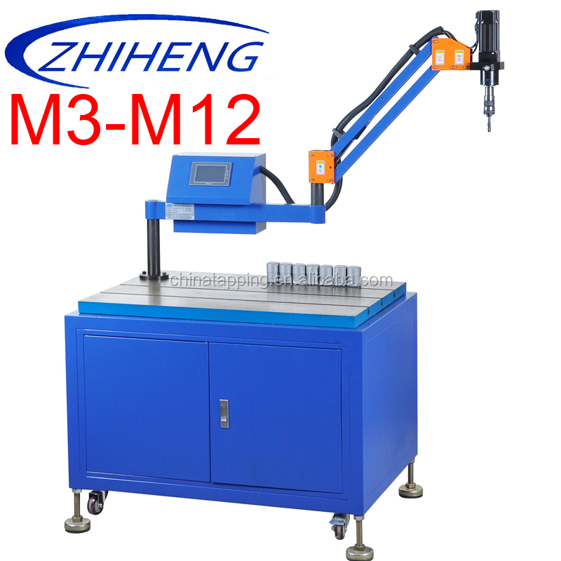 automatic rubber tapping machine for lead self tapping nut microcomputer control threading machine