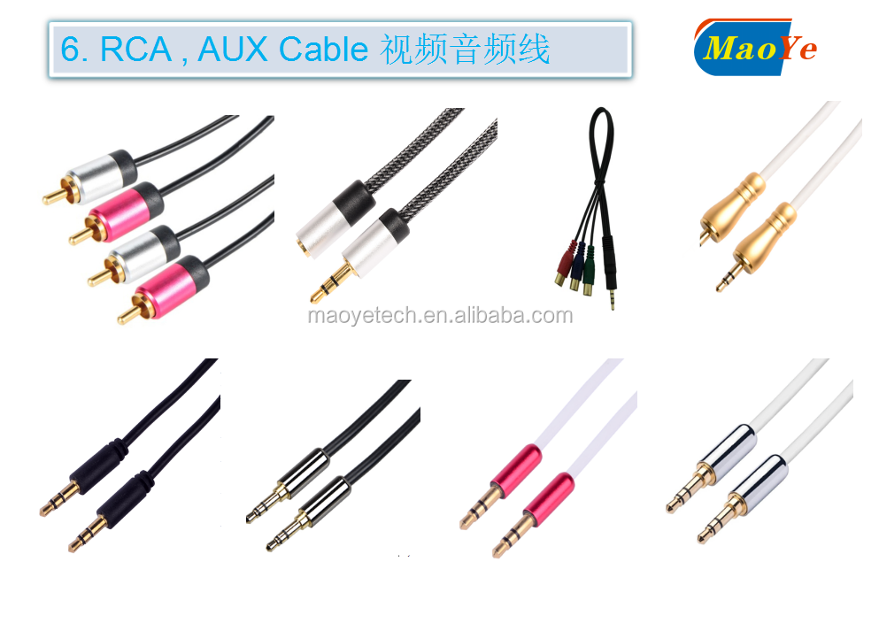 Wholesale 3.5mm Male to Male Aux / Auxiliary Extension Cable for MP3 Players , Video Games