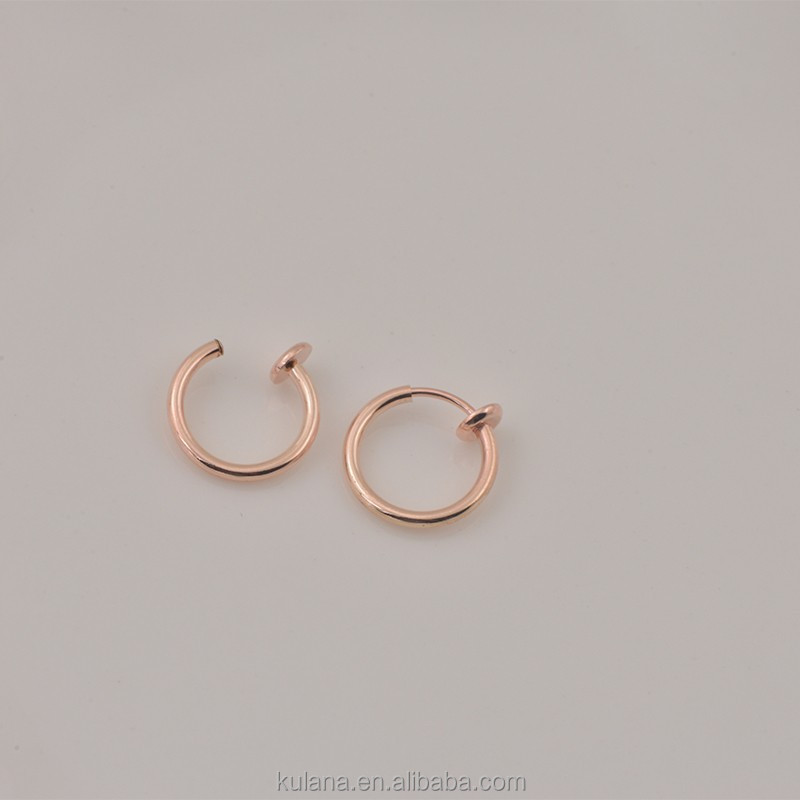 New design earring findings, non piercing jewelry