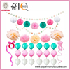 Paper Craft Sets for DIY Wedding Party Decorations,Baby Shower,Festival including Circle Dot Garlands,Tissue Paper Honeycomb