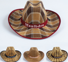 Summer wide eaves sunshade hat for men Cowboy hat Beach Jazz hat wholesale