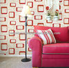 Fashion decorative korea style red wallpaper for house decoration